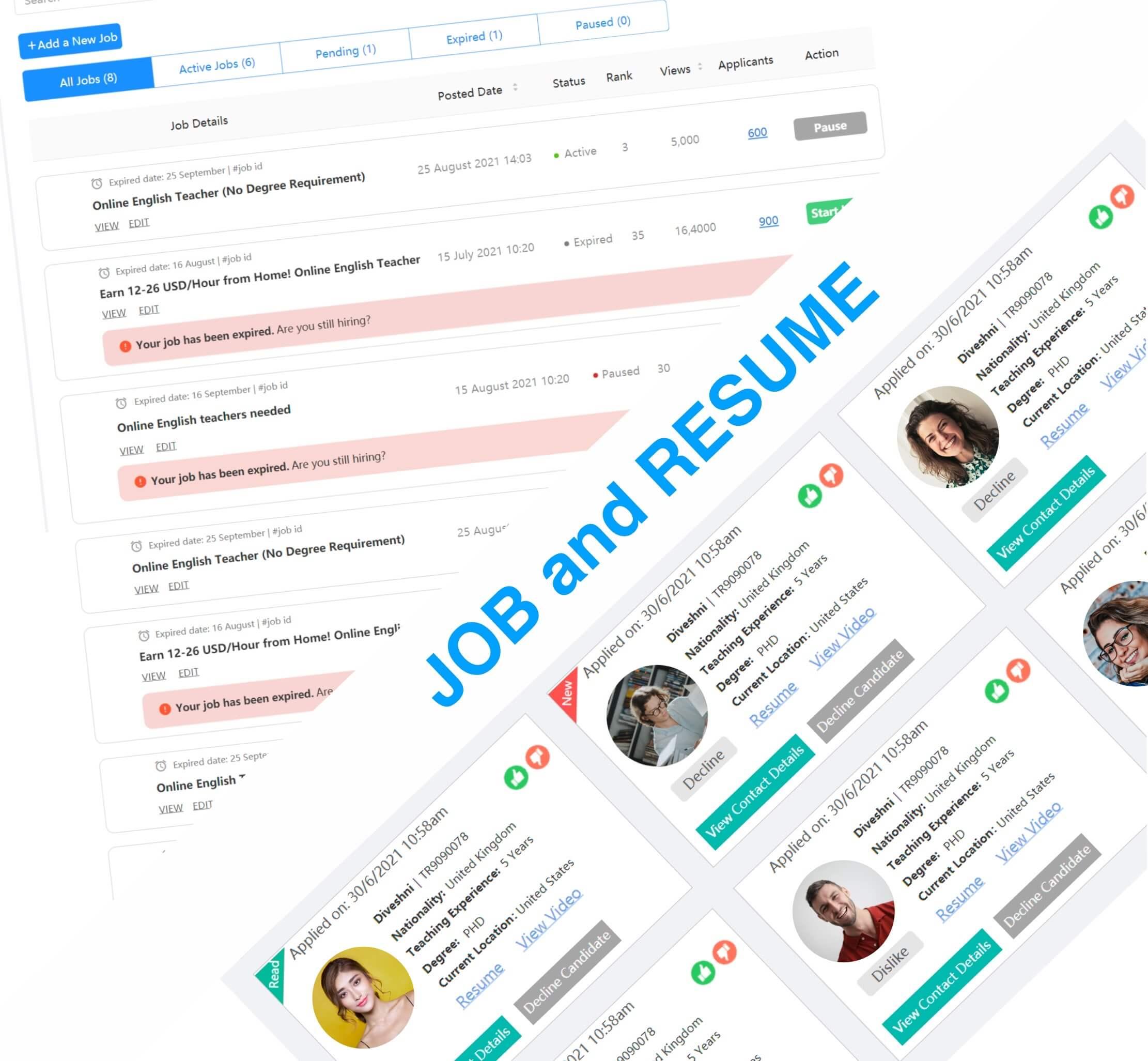 JOB and RESUME - TeacherRecord