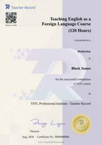 tefl certificate sample - TeacherRecord